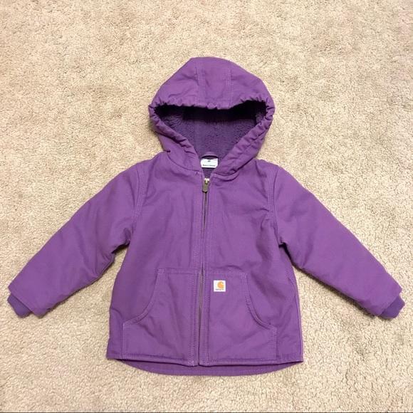 2cb95d58 Carhartt Jackets & Coats | Purple Redwood Coat Canvassherpa Lined ...